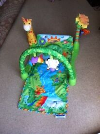 Fisher Price Musical Rainforest 1-2-3 Baby Gym and Soft Play Mat RRP £29.99
