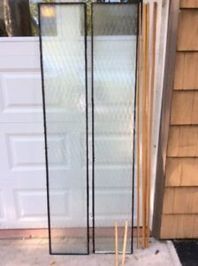 2 Thermopane Fluted Side Lite Glass Inserts