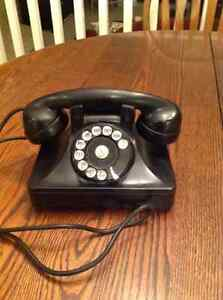 North Electric Rotary Telephone Art Deco Style