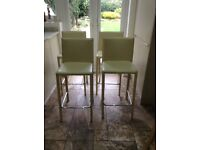 4 Cream Leather Breakfast Bar Stools - 2 for £50 or 4 for £80