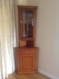 Youngers cherry wood wall unit with internal light