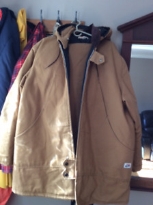 TAN BIG and TALL WORK KING INSULATED MEN'S PARKA and BIB OVERALL