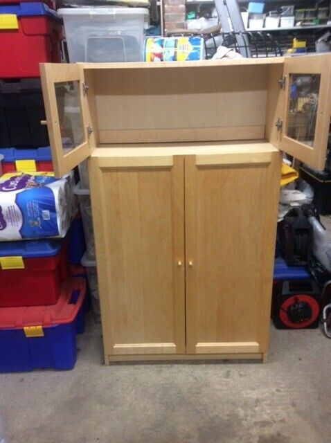 Ikea beech Billy bookcase with extension and doors | in Croydon, London |  Gumtree
