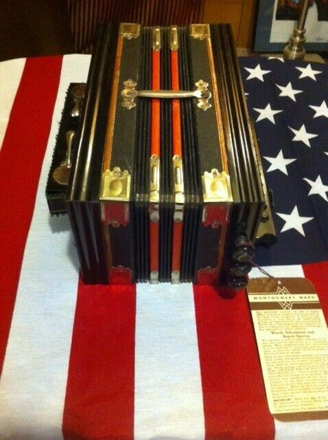 vintage button accordion sold at Montgomery Ward