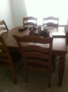 Solid Oak Keller Square Dining Room Table With High Back