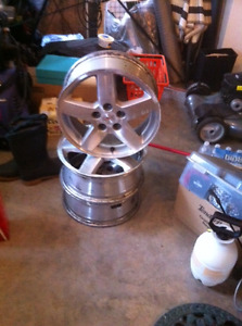 16 inch Pontiac G6 Aluminum rims with new Sensors 5 X 10 B.Patte