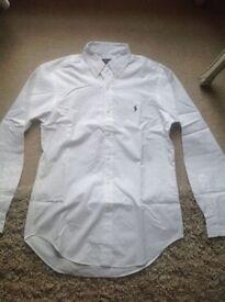 Ralph Lauren white oxford button up shirt