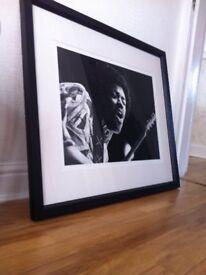 jimmi hedrix framed print