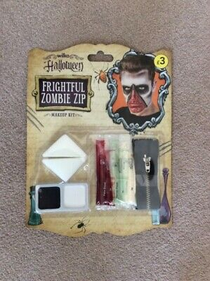 BNIB Halloween Frightful Zombie Zip Make Up - Halloween Make Up Kits