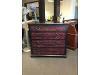 Antique Upcycled Red Chest of Drawers