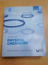 Atkins' Physical Chemistry - Atkins and De Paula - 8th (Eighth) Edition - Very Good Condition