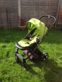 Babystyle Oyster 1 Travel System, adapters and Maxi Cosi Car Seat