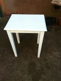 Painted duck egg blue pine table - needs repainting or cleaning