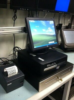 All In One Pos System W15 Elo Touch Monitor Cash Drawer And Printer