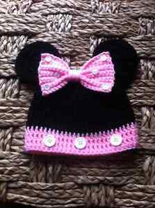 Mickey Mouse and Minnie Mouse Crochet Hats