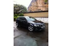 Audi A3 1.4 tfsi S-Line (125bhp),full history,manual, all the right extras Black/Black half leather