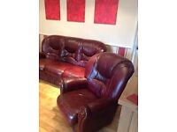 3 Piece Leather Suite