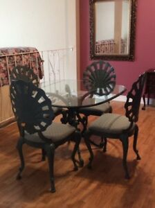 Unique Wrought Iron Table & Chairs