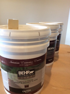 Behr Paint - 3 large pails of interior eggshell
