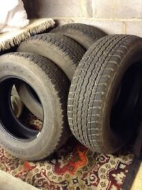 Bridgestone Dueler road tyres x 4 255/65 R17