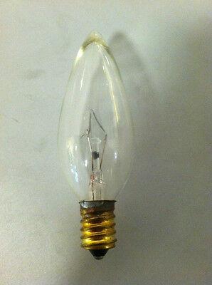 6 Pack Candelabra Base (E12) 40 Watt Incandescent (220V) Clear  Bulb Brass Base
