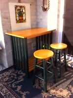 Space Saving Table and Stools