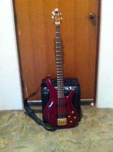 S Bass guitar and Line 6 amp Eden Hill Bassendean Area Preview
