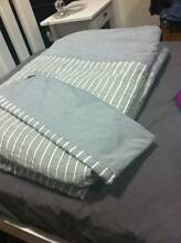 SB Cotton Grey QUILT COVER SET-BRAND NEW/NEVER USED Blaxland Blue Mountains Preview