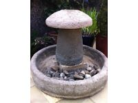 Concrete cement water feature