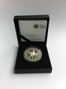 *NEW* The Royal Mint 1977 Queen Elizabeth II Silver Proof Jubilee Crown –HIS77SP