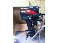 TOHATSU 2009 30hp 2 STROKE outboard engine of boat