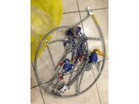 Weissenfels self-tightening 9mm snowchains from Germany (size 9) - Collection only.