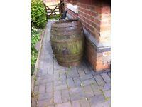 Very large Oak Barrel, ideal water butt.