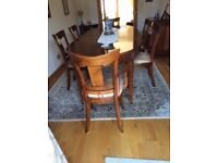 Beautiful French Cherry Table and Chairs