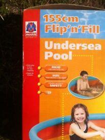 FlipnFill Paddling Pool 155 cm unused still in box £3