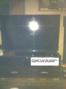 "Insignia 42"" LED TV w/ Remote And Base -- REDUCED"