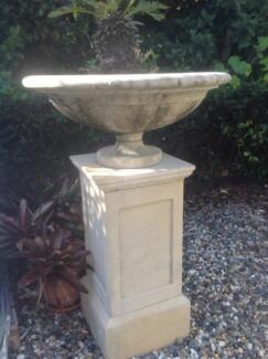 Ornamental Garden Urn and Pedestal For Sale