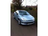 Peugeot coupe convertible 206cc Full Service History