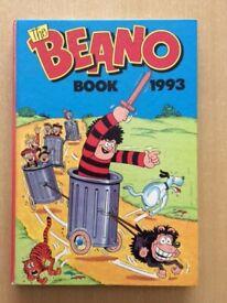THE BEANO BOOK - YEAR 1993 - HARDBACK - COMIC ANNUAL -