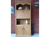 Cane Conservatory Display & Drinks Cabinet