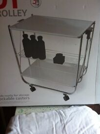EASY UP SERVING TROLLEY BRAND NEW AND UNUSED