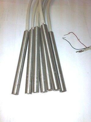 "FAST HEAT Cartridge Heater 3//8/"" Dia X 16/"" Long  1050W 240V 22/"" Stainless Braid"