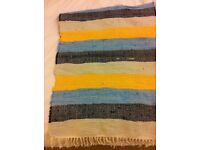 IKEA flat woven rug in bright colours
