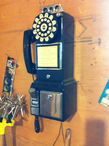 Old style pay phone it works as a touch tone Plastic Collectable