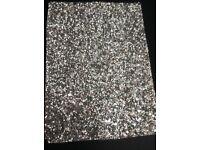 BRAND NEW Silver Glitter Fabric