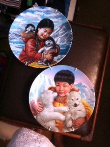 Inuit Children Decorator Plates