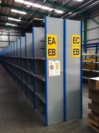 15 bays DEXION impex industrial shelving 2.3M high( storage , pallet racking )
