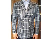 Light blue check blazer
