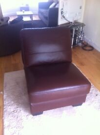 Real leather chair (DFS) - good condition