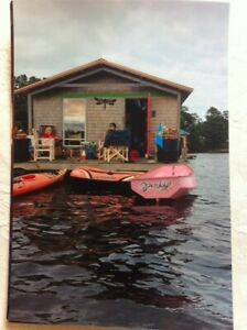 Houseboat(no motor) and tandem kayak for summer fun rental